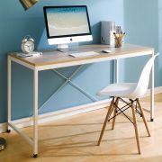 MD-1400-Ivory  Metal Large Desk