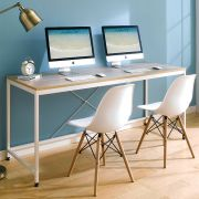 MD-1800-Ivory  Metal Large Desk