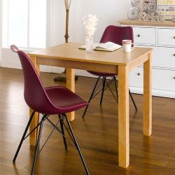 Kelly-NA-2-Purple  Dining Set (1 Table + 2 Chairs)