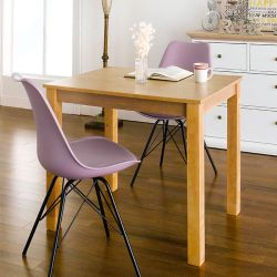 Kelly-NA-2-Violet  Dining Set (1 Table + 2 Chairs)