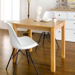 Kelly-NA-2-White  Dining Set (1 Table + 2 Chairs)