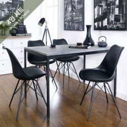 Stone-4-Black  Dining Set (1 Table + 4 Chairs)