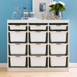 Kreo-WHT-WHT-12  Storage Box