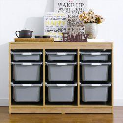 Kreo-OAK-GRY-9  Storage Box
