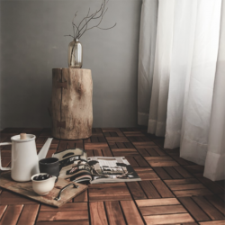 Dandy-Brown-6P  Solid-Wood Floor Tiles  (0.16 평)