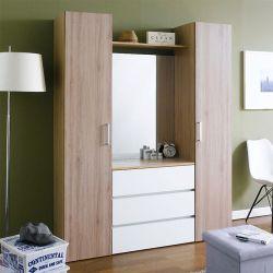 SRD-Oak-Mirror  2-Door w/ Mirror