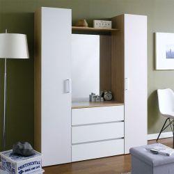 SRD-White-Mirror  2-Door w/ Mirror