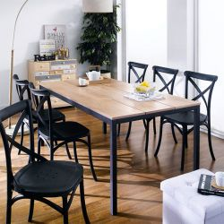 Pacific-6-Black-PP Dining Set (6인용)