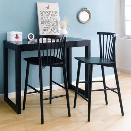 Cebu-Black Bar Chair