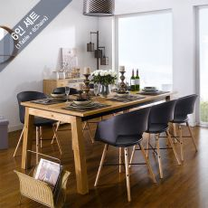 Detroit-6-Black-Cai Dining Set (6인용)