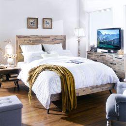 Alicia Queen Panel Bed ~100% Acacia Solid~