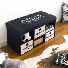 La Famille  Foldable Bench w/ Storage