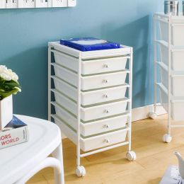 G306B-WH 6-PP Drawer Cart