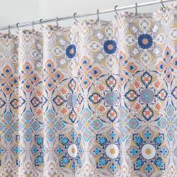 65520ES Clover Medallion Shower Curtain