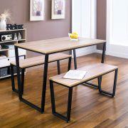 Enso-4-Natural-2-Bench Dining Set