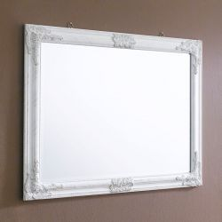 Sanne-Rect-White  Wall Mirror