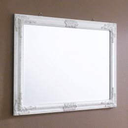 Sanne-Rect-White  Wall Mirror
