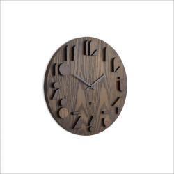 Shadow-Aged Walnut Wall Clock