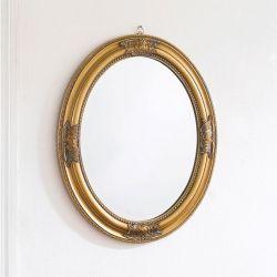 Livia-Gold Oval Wall Mirror