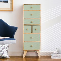 Judy-Green 7-Dr Storage Cabinet