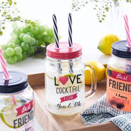 Mason Jar-Love  Cocktail Jar  (Straw 포함)