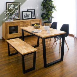 Ziva-2-Natural-Black-BB Dining Set