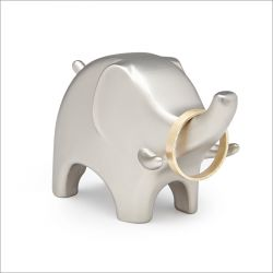 Anigram Elephant-Nickel Ring Holder