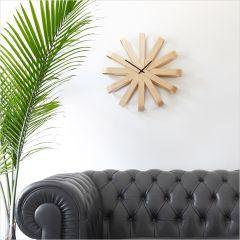 118071-390 Ribbonwood-Natural Wall Clock