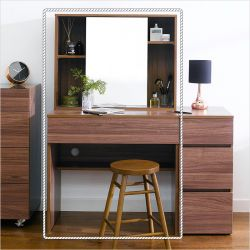 SG-2185-Walnut Vanity & Mirror