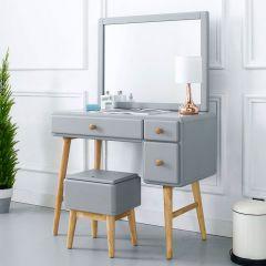 Rora-VM-Grey  Vanity & Mirror