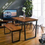 Ziva-2-Walnut-White-WW  Dining Set