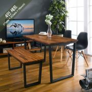 Ziva-2-Walnut-Black-BB  Dining Set