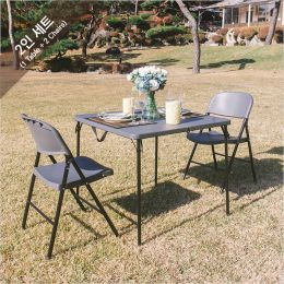 LF-86Z-YCD-50-2-Grey  Table Set  (3 Pcs)