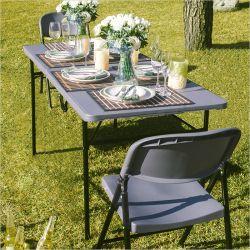 LF-180Z-Grey  Folding Table
