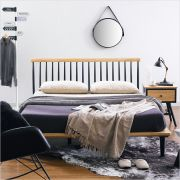 Browny-Nat/Black-QB  Queen Bed
