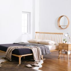 Browny-Natural-QB  Queen Bed  (Oak 원목)
