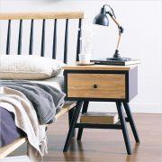 Browny-Nat/Black-NS  Side Table (Oak 원목)