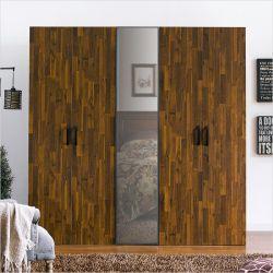 MC-9020-B  Triple Closet w/ Mirror Door