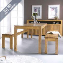 Ocean-Natural-Bench  Dining Set