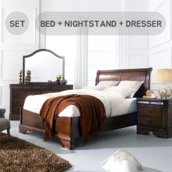 Sheridan-Q-Set  Queen Panel Bed  (침대+협탁+화장대)