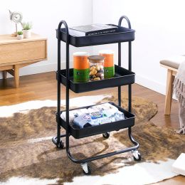 ST25346-C-Black  Storage Cart