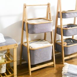 SJ217102  2-Tier Bamboo Storage
