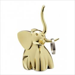 Zoola Elephant-Brass  Ring Holder