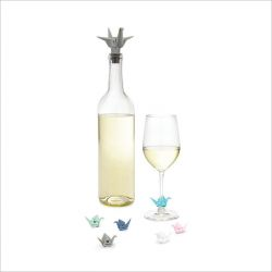 Origami  Bottle Stopper & Wine Charms
