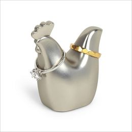 1004288-410 Rooster-Nickel Ring Holder