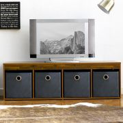 G4-Acacia  TV Stand w/ Boxes