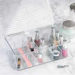 39540ES  Clarity Nail Polish & Cosmetic Box