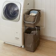 LB-11A-BR  Laundry Basket-Medium