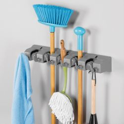 41553ES  Wall Mount Mop & Broom Holder