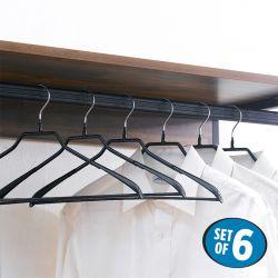HW5233-Black  Clothes Hanger (6 Pcs 포함)